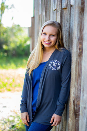 Classic Monogrammed Carly Cardigan - Button Down, Ladies, Sunny and Southern, - Sunny and Southern,