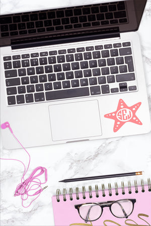 Monogrammed Vinyl Decal Starfish, Accessories, Sunny and Southern, - Sunny and Southern,