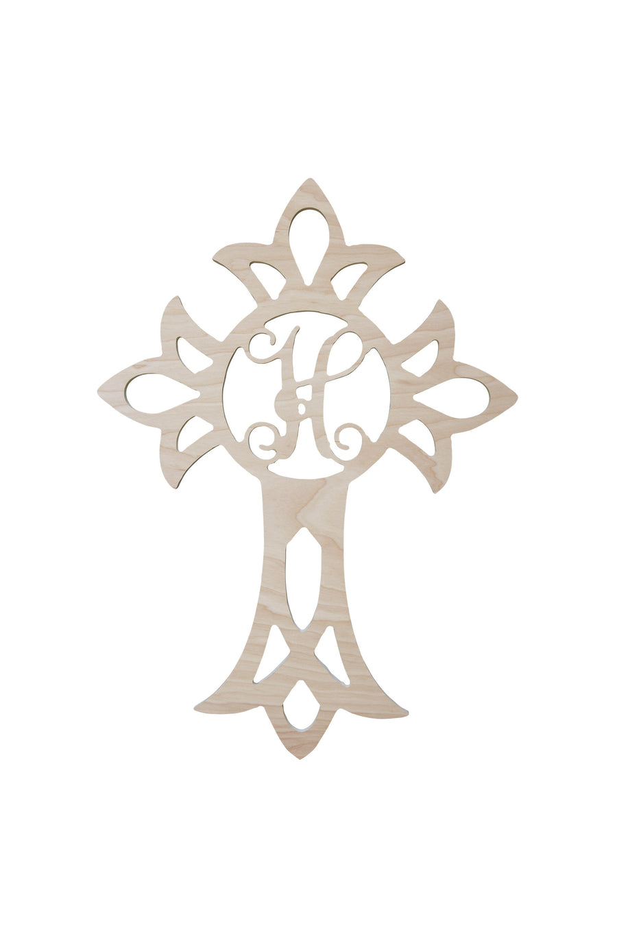 22 Inch Cross Wood Monogram, Home, WB, - Sunny and Southern,