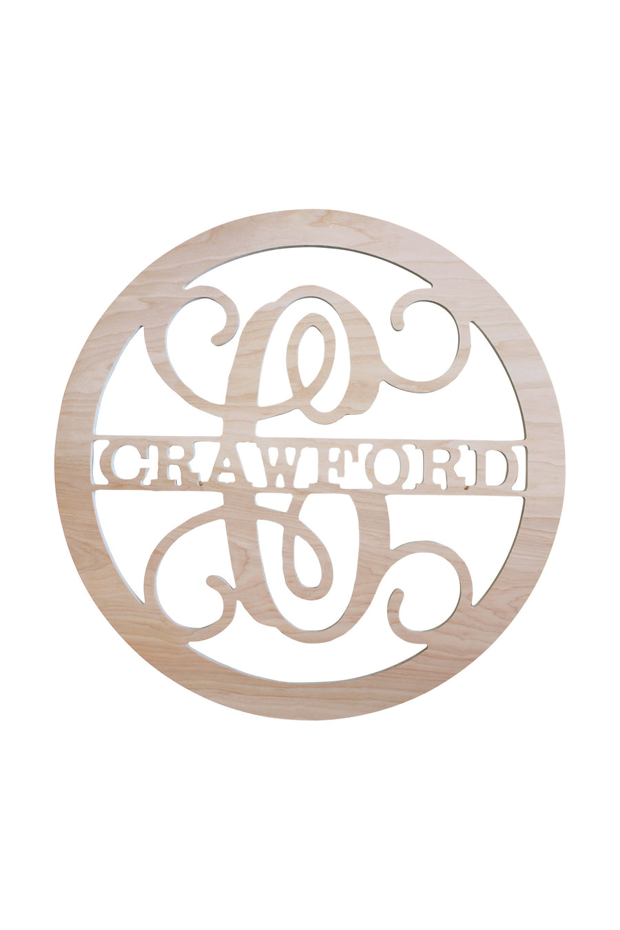 22 Inch Family Name Wood Monogram, Home, WB, - Sunny and Southern,