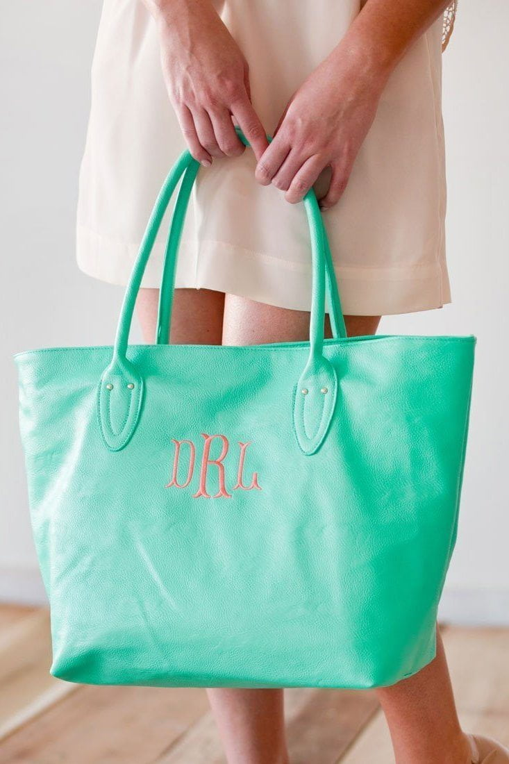 Classic Monogrammed Leather Purse, Accessories, WB, - Sunny and Southern,