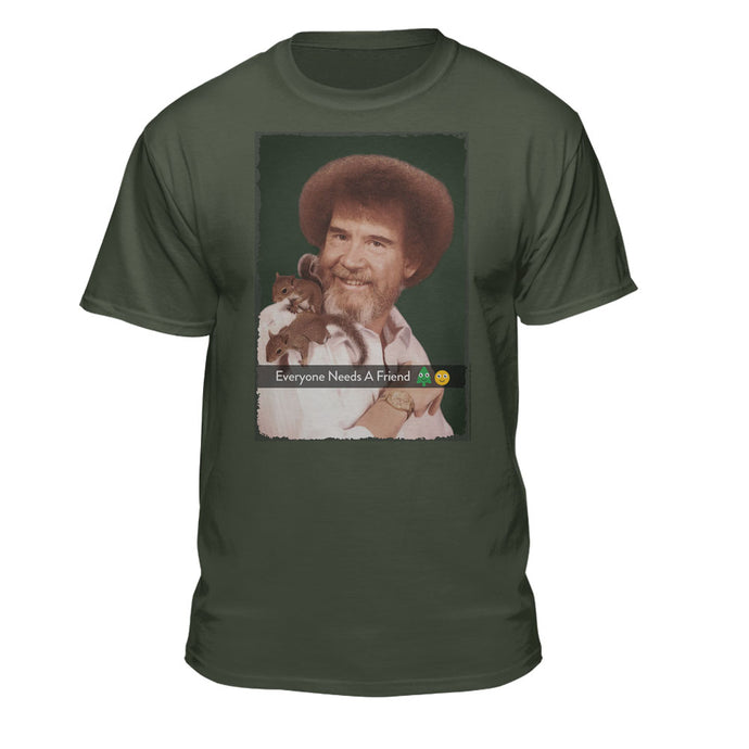 Bob Ross Everyone Needs a Friend Squirrel T-shirt