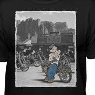 Popeye Biker Scene Official T-shirt