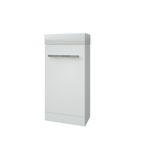 K-Vit Purity 410mm Floor Standing Cloakroom Vanity Unit & Basin - White