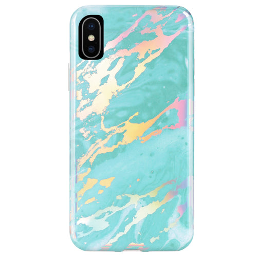 Turquoise Holo Marble Phone Case IPHONE XS MAX - CASES A LA MODE