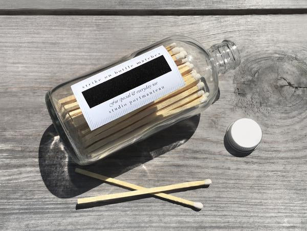 "matches in a bottle - 4"" white"