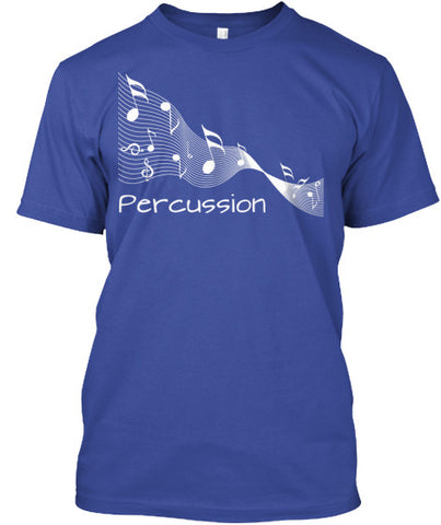 Percussion Music Ribbon - White Letters
