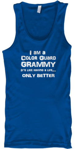 Color Guard Grammy Life - White Letters - Tank Top