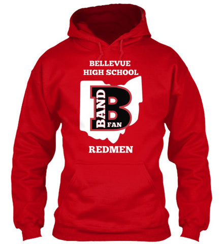 Bellevue High School Band Fan - Hoodie