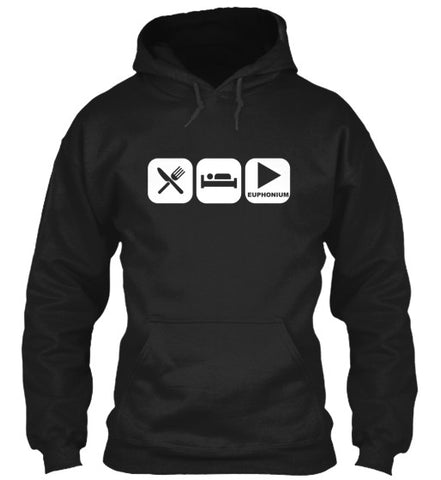Eat, Sleep, and Play Euphonium Hoodie!