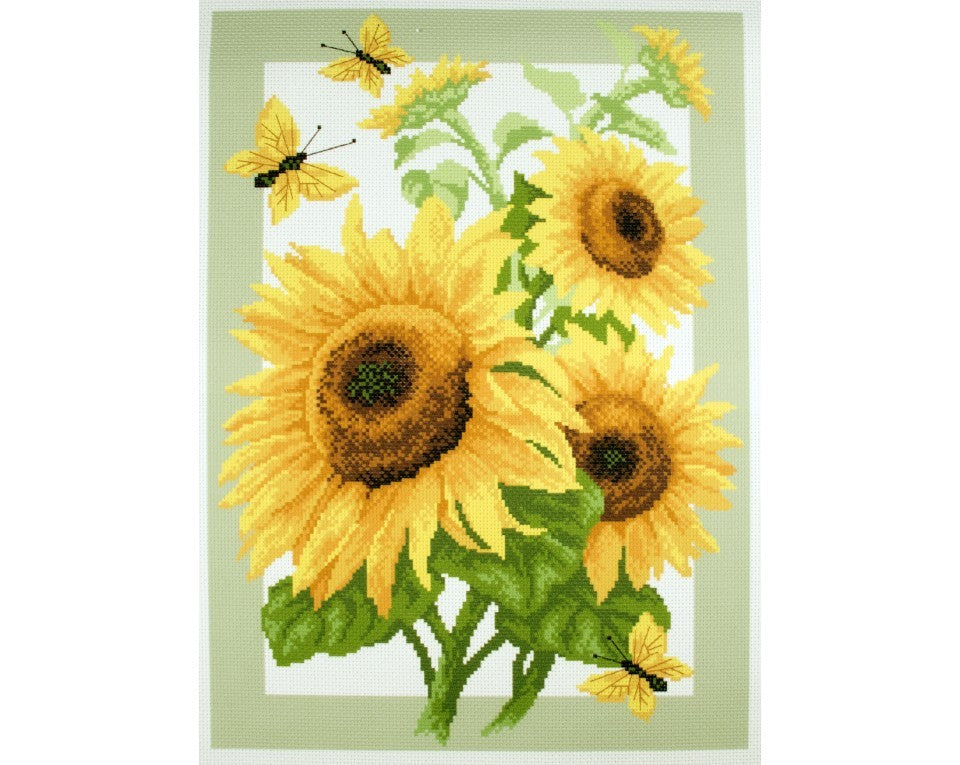 Olympus Cross Stitch Sunflower with Hoop, 10.5cm