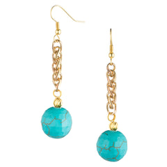 Turquoise Stone Drop Earrings | VaVaVoo Jewelry