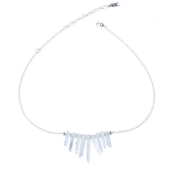 Silver Ice Crystal Necklace