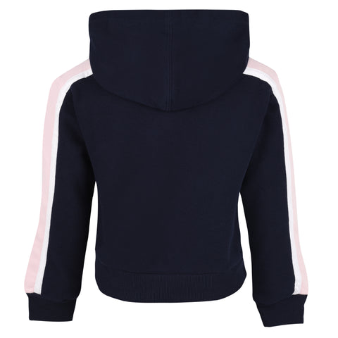 Girl's Converse Cropped Po Hoodie Obsidian/Arctic Punch