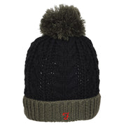 Boy's Farah Bobble Hat Khaki