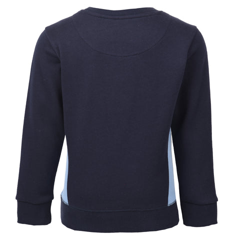 Boy's Farah Terry Crew Sweat Navy
