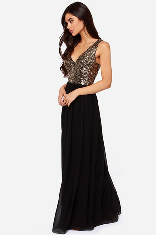 QUEEN OF THE NIGHT SEQUIN GREEN MAXI DRESS