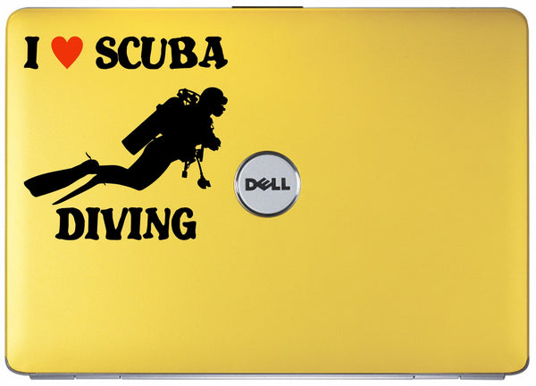 I love SCUBA diving - vinyl decal sticker graphic #2