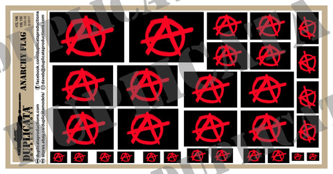 Anarchy Flag - 1/72, 1/48, 1/35, 1/32 Scales - Duplicata Productions