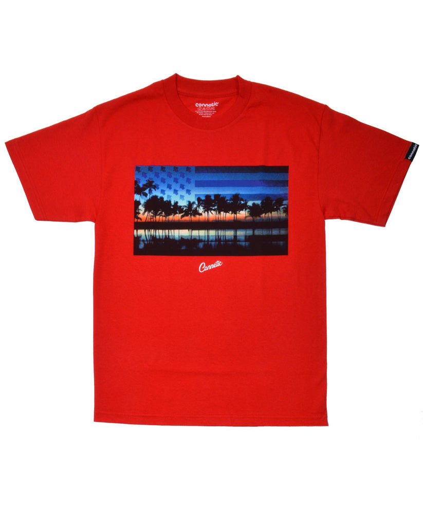 Connetic-OldGlorySunset-Tee-Red