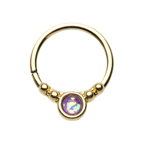 Cartilage - Gold Plated 1 Purple Opal