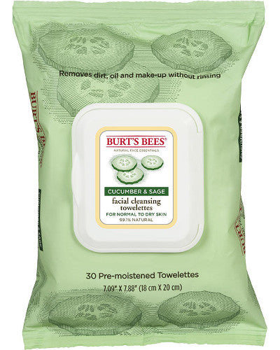 Facial Cleansing Towelettes Cucumber & Sage 30 Ct