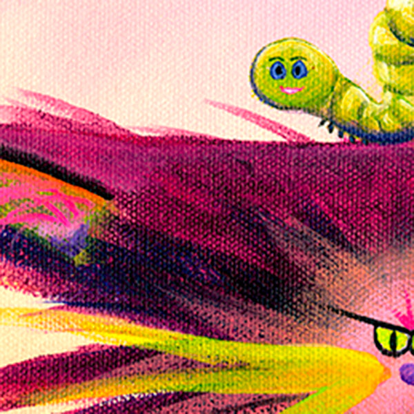 detail Cranky Cat with Inchworm - Cranky Cat Collection™ by Cindy Schmidt
