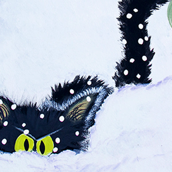 Snowbound Cat - Cranky Cat Collection™ by Cindy Schmidt