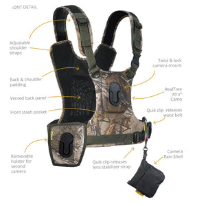 CCS G3 CAMO Binocular & Camera Harness