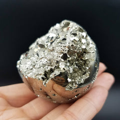 Pyrite Sphere Crystal Ball Geode