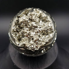 Sparkly Pyrite Sphere Crystal Ball