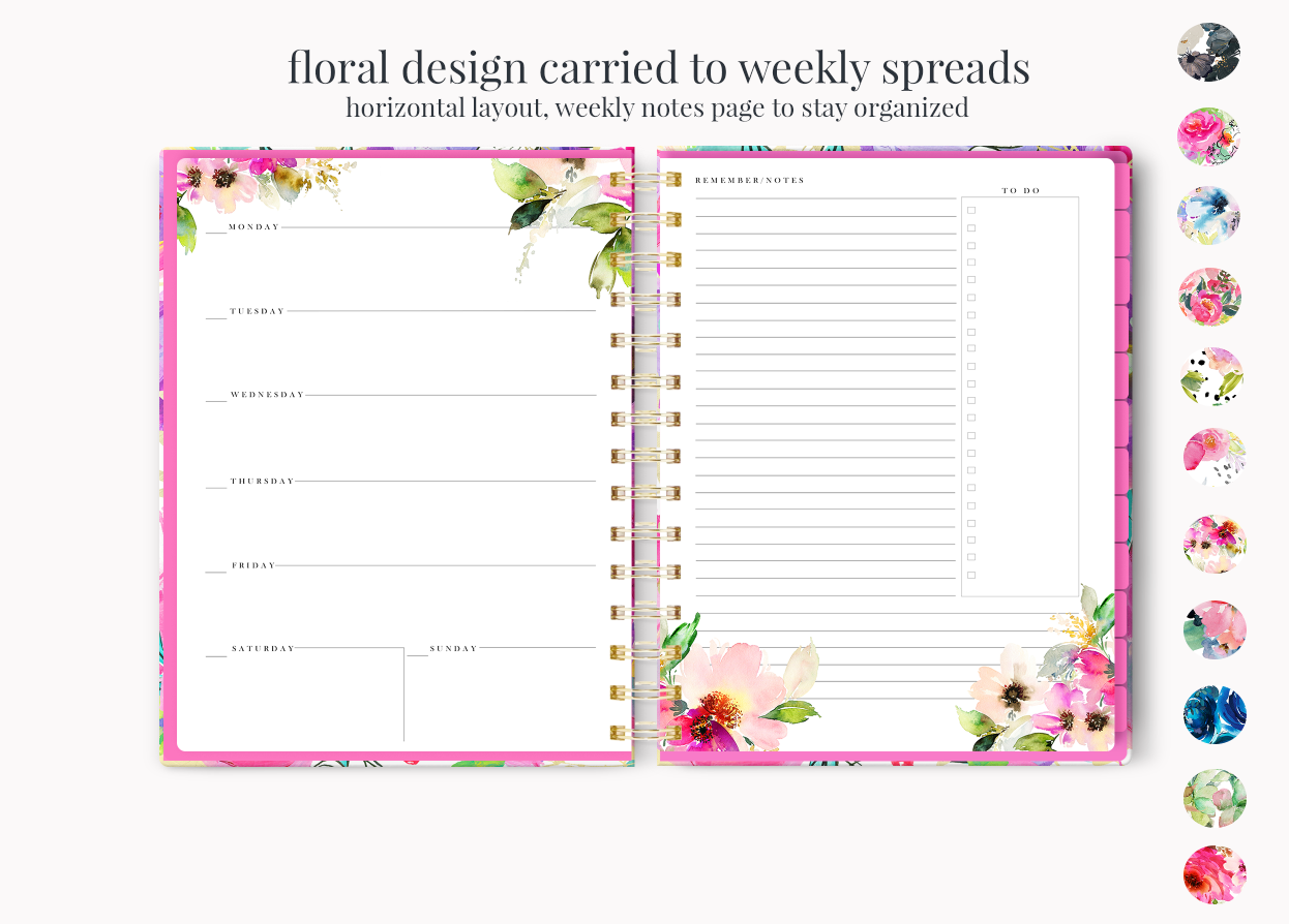 The Stylish Planner: The Stylish Planner™ Blooming Petals Planner (12-months)