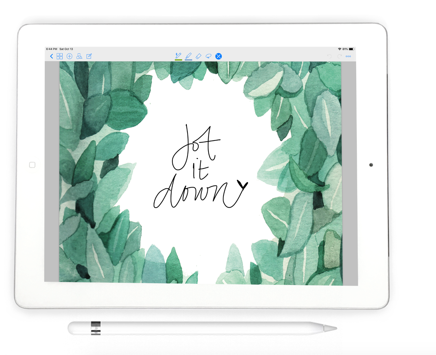 Stylish Planner and Stylish Gifts - Eucalyptus Digital Notebook - Digital Planner Collection