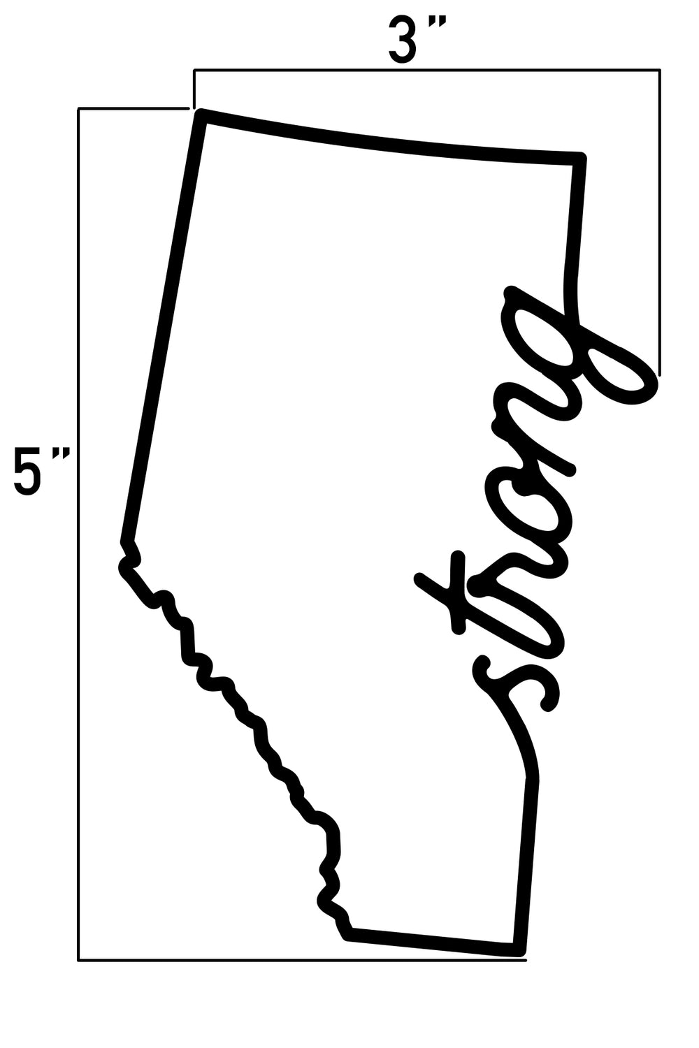 Province Script Vehicle Decal 5""