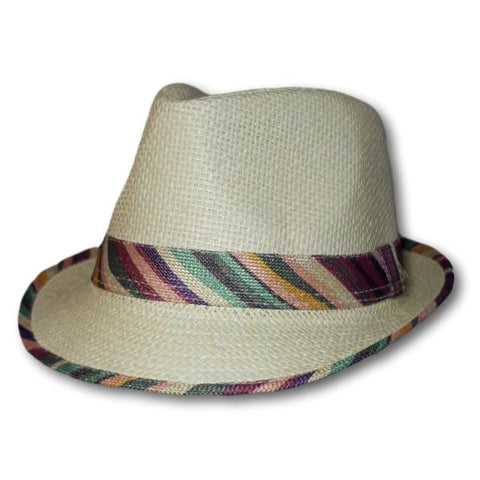 Fedora With Striped Trim