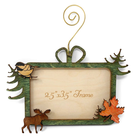 Doles Orchard Laser-Cut Wood Magnetic Photo Ornament, Woodlands