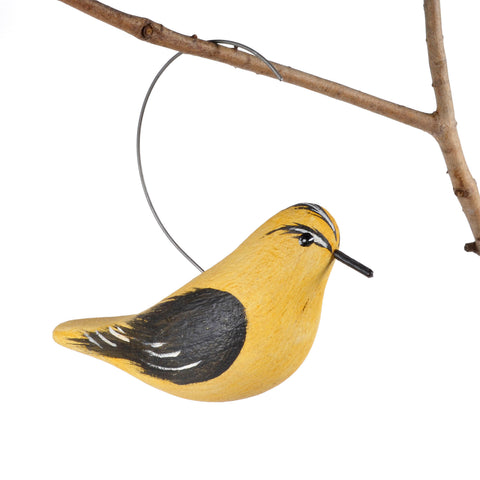 The Painted Bird by Richard Morgan Carved Goldfinch Hanging Decoy