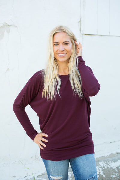 Sweater Dolman - Plum
