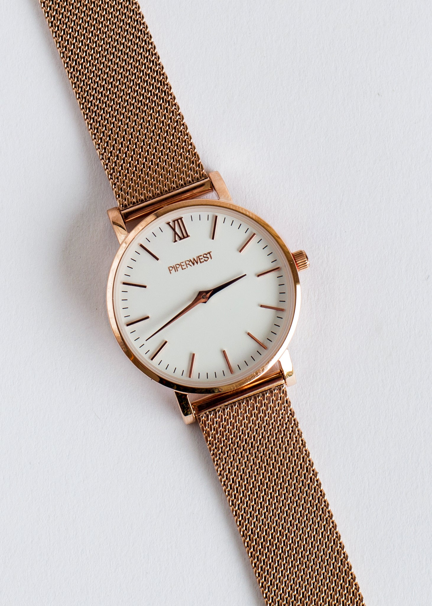 Mini Mesh Minimalist Watch 32mm Rose Gold