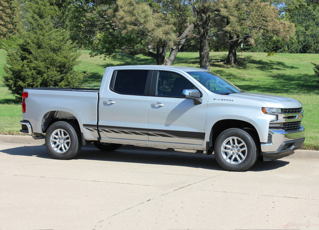 2019 Chevy Silverado Stripes ROCKER TWO Decals Lower Door Rocker Panel 3M Vinyl Graphics Kit