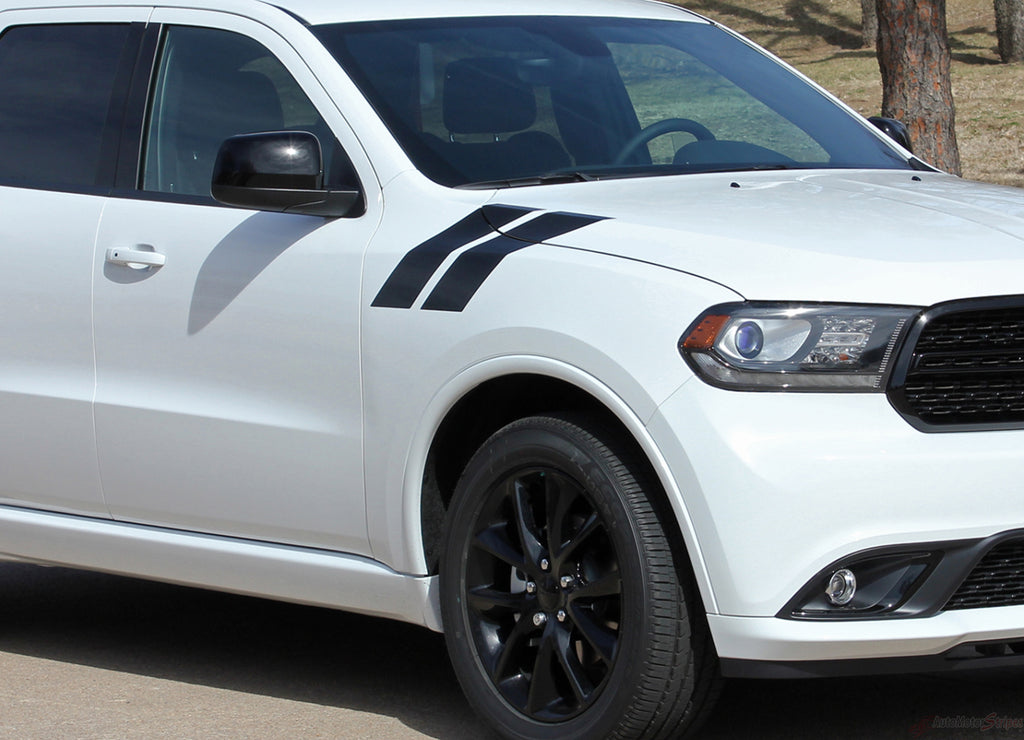 2011-2019 Dodge Durango Hash Mark Stripes Double Bar SUV Hood Fender Vinyl Graphic 3M Package