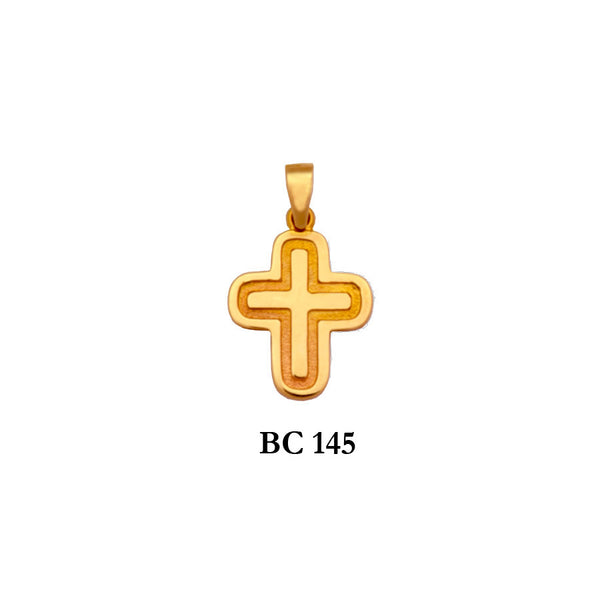 14K byzantine style detailed solid gold cross pendant