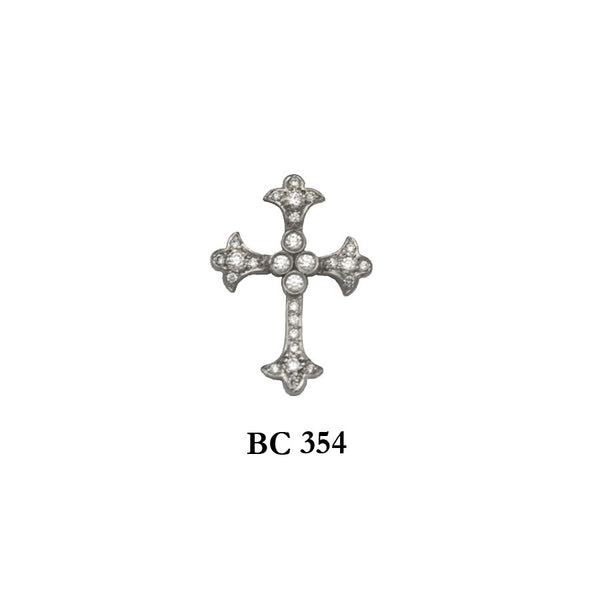 14K byzantine style diamond captivating solid gold cross pendant