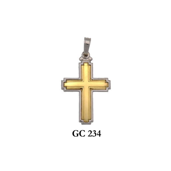 14K gold 2-piece neat cross pendant