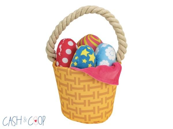 Interactive Easter Basket Dog Toy