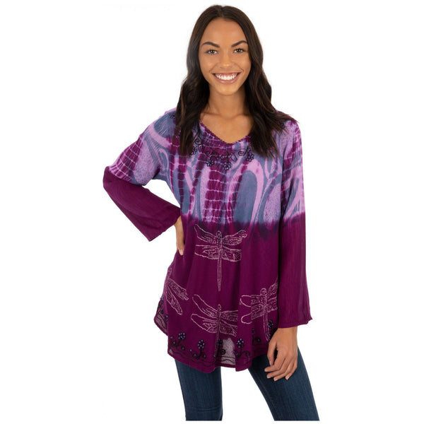 Darting Dragonfly Long Sleeve Tunic