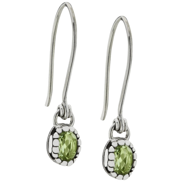 HSUS Sterling Paw & Peridot Drop Earrings