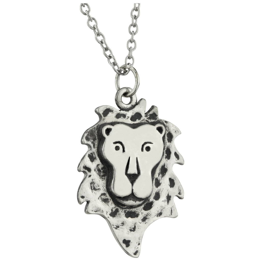 Mighty Cecil The Lion Pewter Necklace