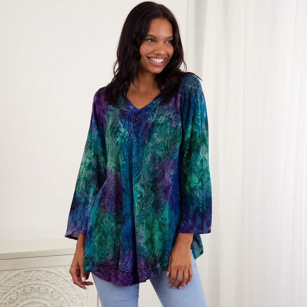 Peacock Love Long Sleeve Tunic