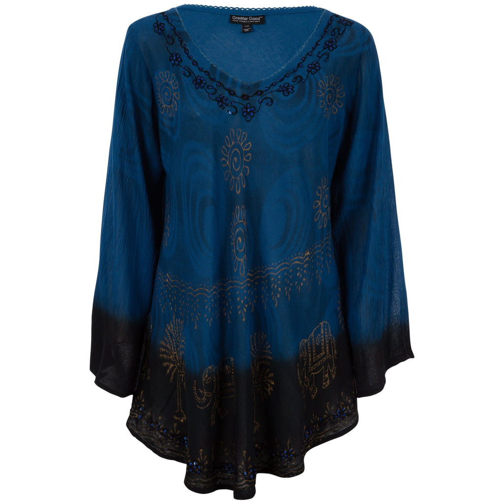 Golden Elephants Long Sleeve Tunic
